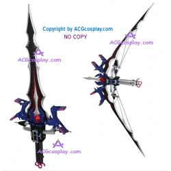Final Fantasy XIII Serah Farron Bow and Arrow Cosplay Prop shape shiftable PVC made